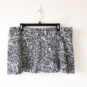 Nike Dri Fit Black White Golf Tennis Skirt Skort